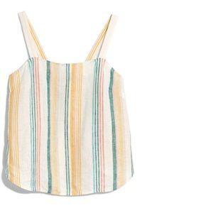 Madewell Stripe Linen Camisole sz M